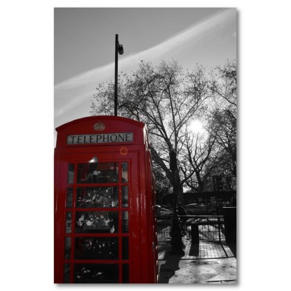 Αφίσα (τηλεφωνικός θάλαμος, μαύρο, λευκό, άσπρο)